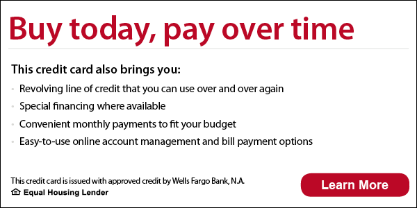 Buy today, pay over time with Wells Fargo credit card